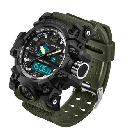 Ceas barbatesc, Sanda, Sport, Militar, Army, Outdoor, Analog, Digital, Quartz, Cronometru, Alarma, Calendar, Cronograf 2