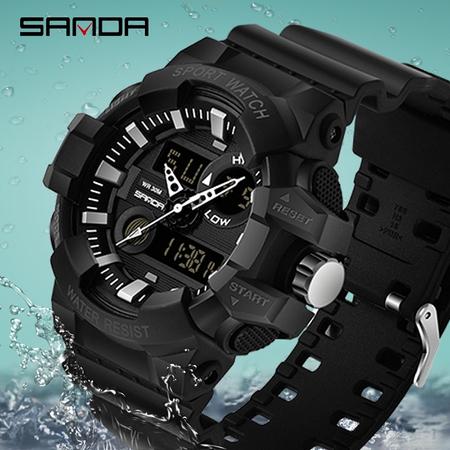 Ceas barbatesc, Shock resistant, Militar, Sport, Digital, Dual-time 2
