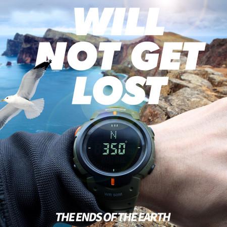 Ceas barbatesc Skmei, Busola, Compass, Ora Globala, 3 alarme, Cronometru, Cronometru invers 2