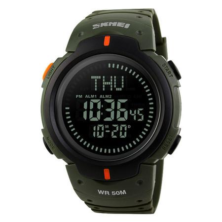 Ceas barbatesc Skmei, Busola, Compass, Ora Globala, 3 alarme, Cronometru, Cronometru invers 1