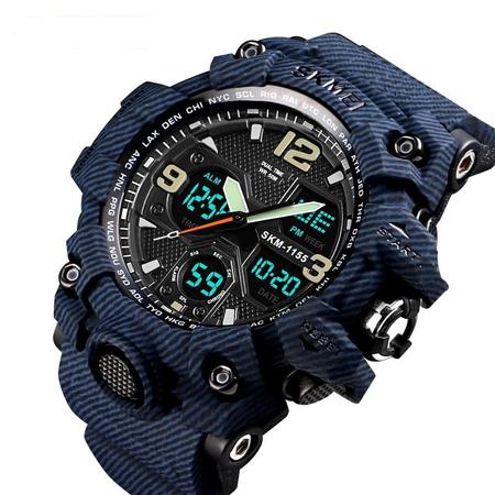Ceas barbatesc Skmei, Militar, Shock Resistant, Digital, Sport, Army, Dual time, Cronograf 0