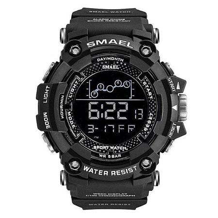 Ceas barbatesc Smael, Shock resistant, Digital, Militar, Sport, Army, Dual Time, Cronograf 0