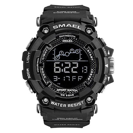 Ceas barbatesc Smael, Shock resistant, Digital, Militar, Sport, Army, Dual Time, Cronograf 1