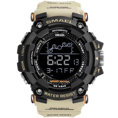 Ceas barbatesc Smael, Shock resistant, Militar, Sport, Army, Digital, Dual time, Cronograf [0]