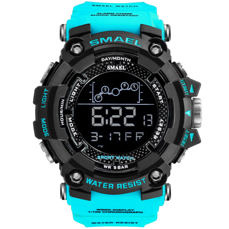 Ceas barbatesc Smael, Shock resistant, Militar, Sport, Digital, Army, Dual time, Cronograf 1