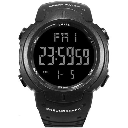 Ceas barbatesc Smael, Sport, Digital, Electronic, Militar, Cronograf, Lumina fundal, Poliuretan 0
