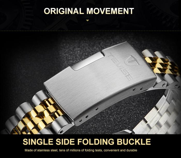 Ceas barbatesc Tevise Elegant Mecanic Automatic Mecanism Tourbillon 5