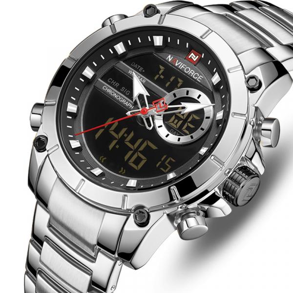 Ceas barbati elegant, Naviforce, Cronograf, Top Brand, Luxury, Quartz, Dual-time 0