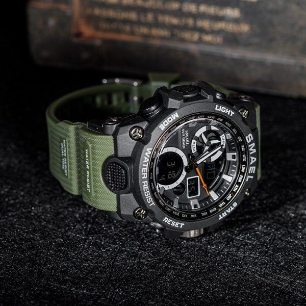 Ceas barbati Smael 8011, Army, Digital, Cronograf, Sport, Militar 9