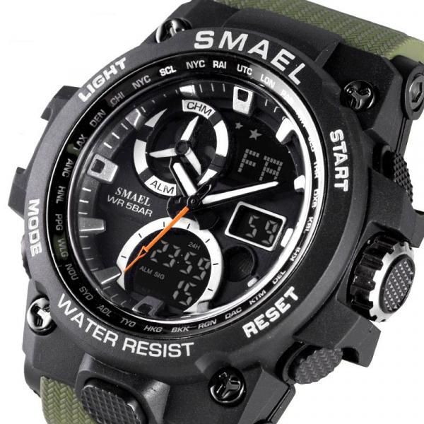 Ceas barbati Smael 8011, Army, Digital, Cronograf, Sport, Militar 2