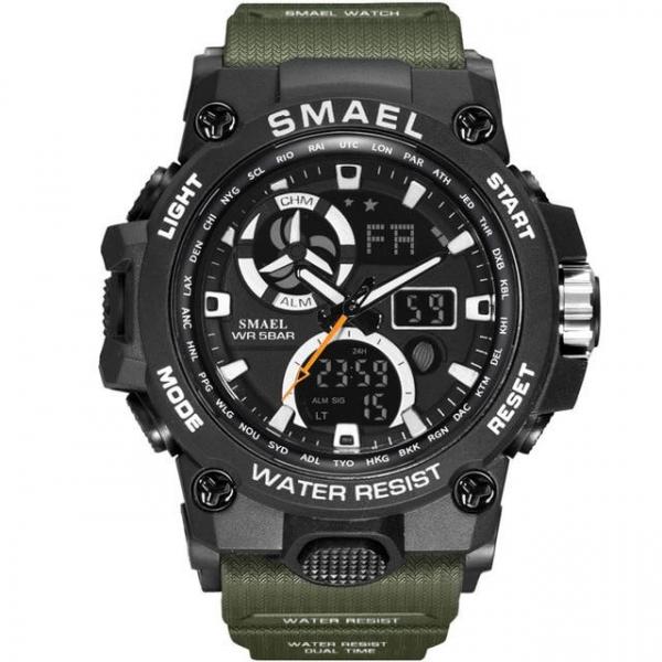 Ceas barbati Smael 8011, Army, Digital, Cronograf, Sport, Militar 1