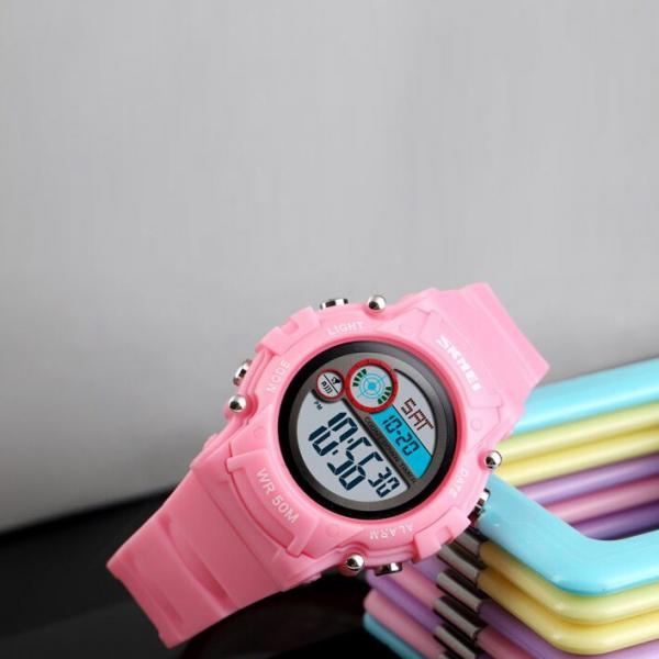 Ceas copii Fete Digital Led Alarma Cronograf Curea PU 1