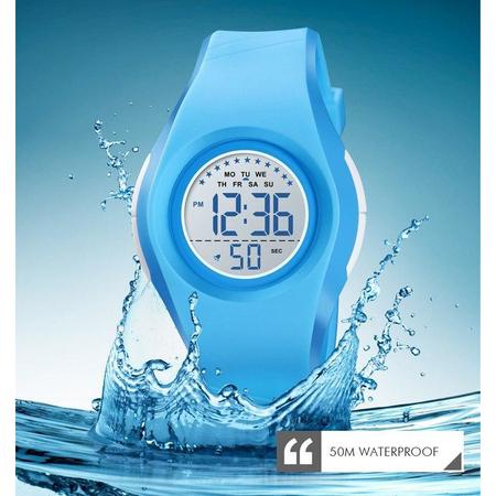 Ceas copii sport Skmei, Digital, Cronometru, Alarma, Rezistent la apa 1
