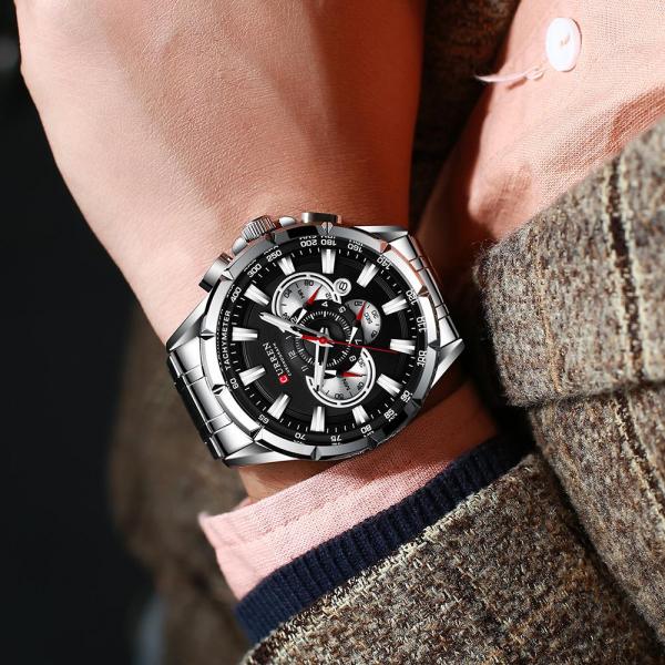 Ceas Curren Sport Otel inoxidabil Cronograf Luxury Business Fashion 2