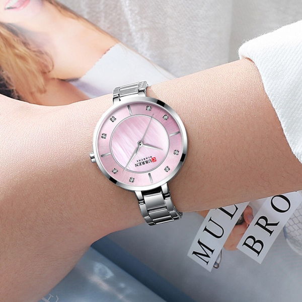 Ceas de dama original, Curren, Ceas pentru femei elegant, Quartz, Otel inoxidabil [2]