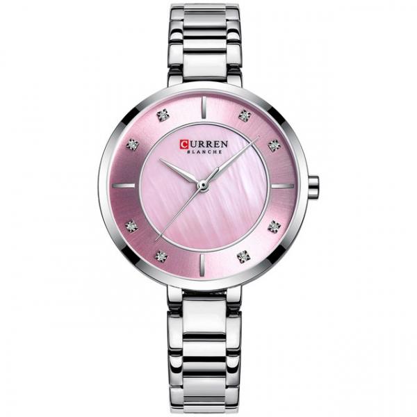 Ceas de dama original, Curren, Ceas pentru femei elegant, Quartz, Otel inoxidabil 1