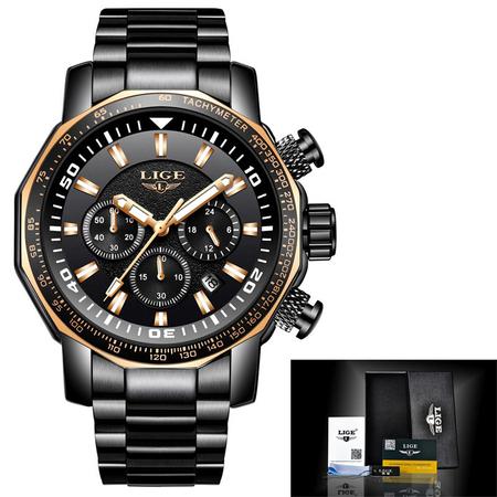 Ceas de mana barbatesc, Lige, Analog, Business, Luxury, Cronograf, Otel inoxidabil, Cronometru 2