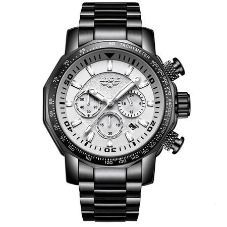 Ceas de mana barbatesc, Lige, Analog, Business, Luxury, Cronometru, Cronograf, Otel inoxidabil 0