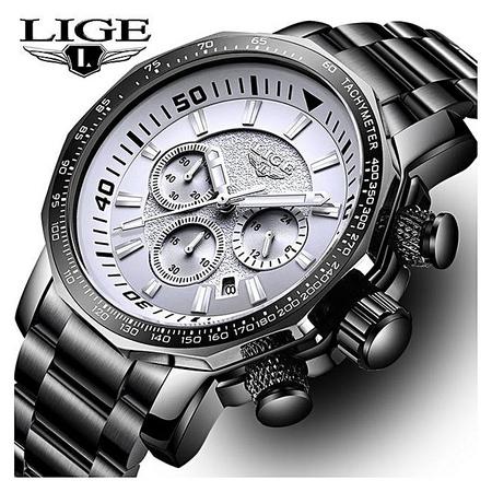 Ceas de mana barbatesc, Lige, Analog, Business, Luxury, Cronometru, Cronograf, Otel inoxidabil 5