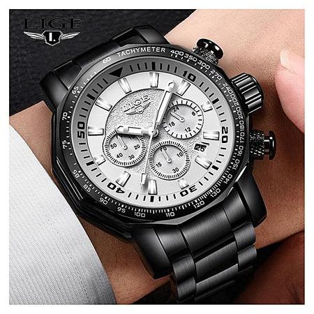 Ceas de mana barbatesc, Lige, Analog, Business, Luxury, Cronometru, Cronograf, Otel inoxidabil 4