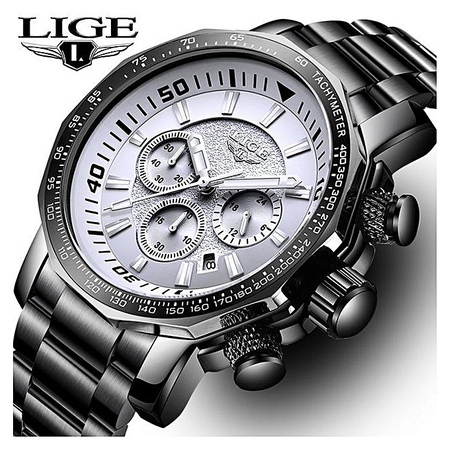 Ceas de mana barbatesc, Lige, Analog, Business, Luxury, Cronometru, Cronograf, Otel inoxidabil 3