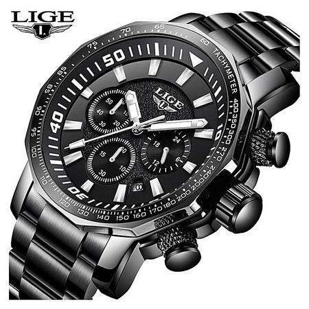 Ceas de mana barbatesc, Lige, Luxury, Analog, Business, Otel inoxidabil, Cronometru, Cronograf 2