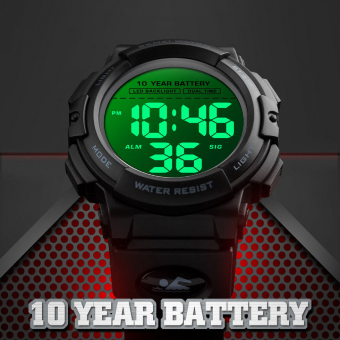 Ceas de mana barbatesc Skmei Sport Rezistent la inot Rezistenta baterie 10 ani [3]