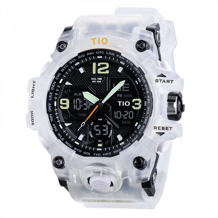Ceas de mana barbatesc Tio Militar Army Sport Digital Cronograf Quartz Rezistent la apa si socuri [0]
