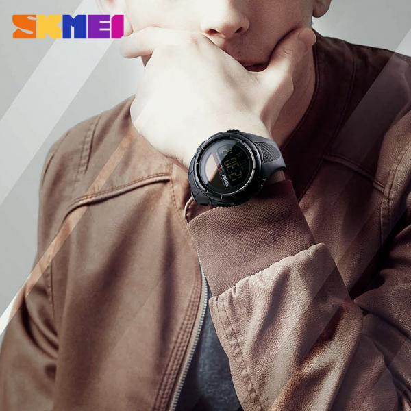 Ceas de mana barbati Incarcare Solara Digital Sport Cronograf Rezistent la apa si socuri 1