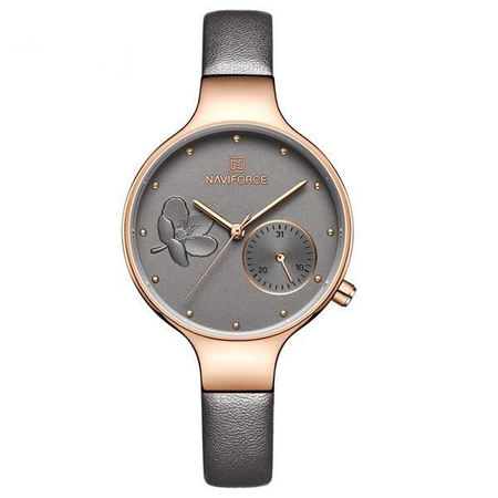 Ceas de mana dama, Casual, Elegant, Fashion Naviforce, mecanism Quartz Seiko, curea din piele naturala 0