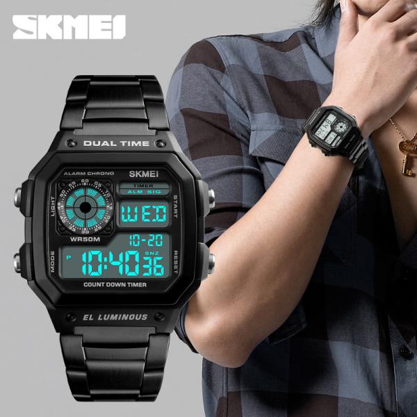 Ceas de mana pentru barbati Casual Cronograf Alarma Otel inoxidabil 1