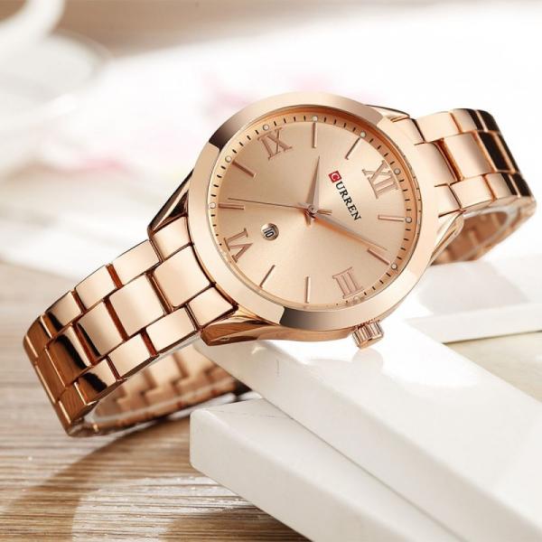 Ceas femei Curren Top Brand Luxury Casual Fashion Quartz Otel inoxidabil 2