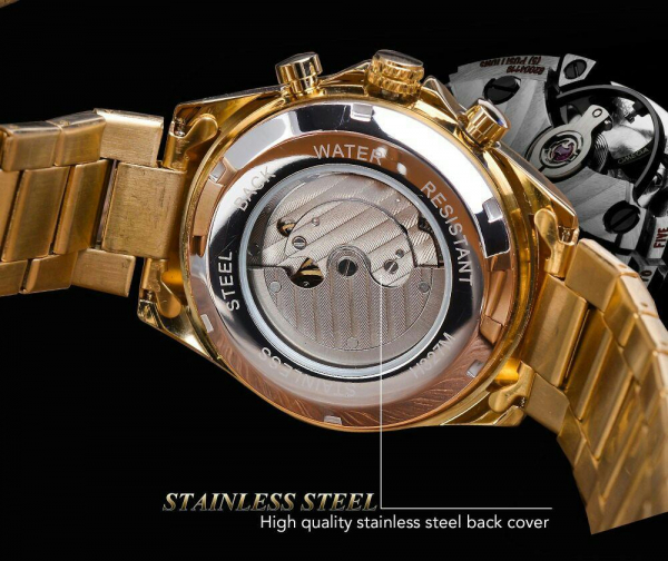 Ceas mecanic automatic, Self Wind, 2020, Fashion, Casual, Top Brand Luxury 6