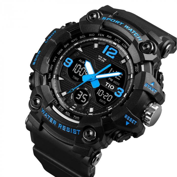 Ceas Militar Tio Sport Army Quartz Digital Cronograf Rezistent la socuri si apa [1]