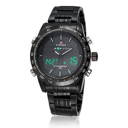 Ceas Naviforce clasic multifunctional, afisaj analogic si digital, mecanism Quartz, rezistent la apa 5Bar, alarma si cronometru [2]