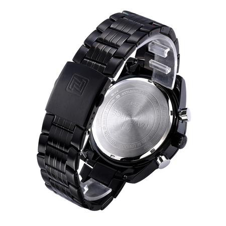 Ceas Naviforce clasic multifunctional, rezistent la apa 5Bar, mecanism Quartz, afisaj digital si analogic, alarma si cronometru 4