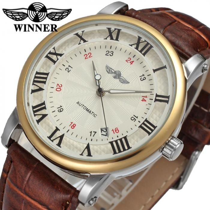 Ceas pentru barbati Mecanic Automatic Winner Retro Clasic [1]