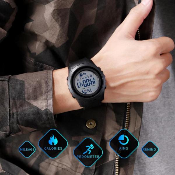 Ceas smartwatch inteligent barbatesc Bluetooth Digital Monitorizeaza bataile inimii Pedometru Calorii 2