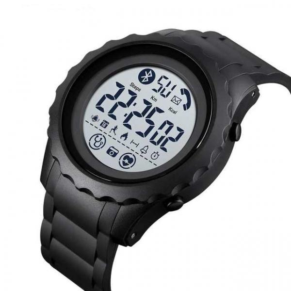 Ceas smartwatch inteligent barbatesc Bluetooth Digital Monitorizeaza bataile inimii Pedometru Calorii 1