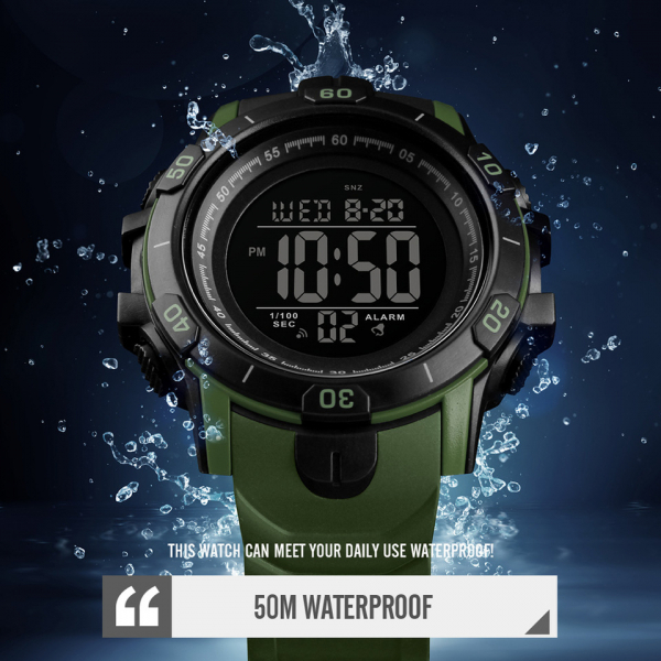 Ceas Sport Militar Digital Barbati Alarma Cronometru Rezistent la apa si socuri 2