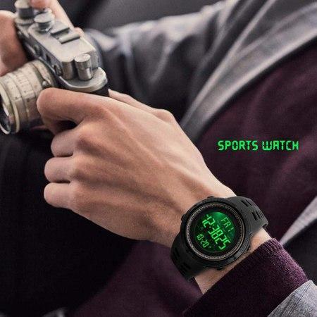 Ceas Sport, pentru barbati, Crononometru, Alarma, Afisal Digital 1