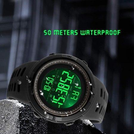 Ceas Sport, pentru barbati, Crononometru, Alarma, Afisal Digital 2