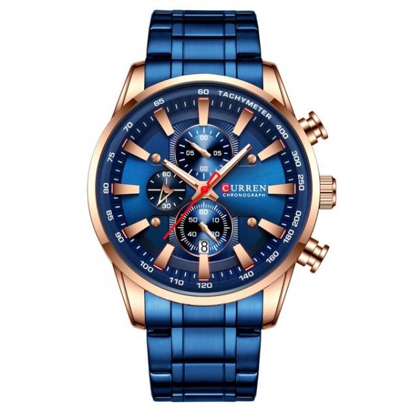 Curren Top Brand, Ceas barbatesc casual, Luxury, Otel inoxidabil, Cronograf, Quartz 1
