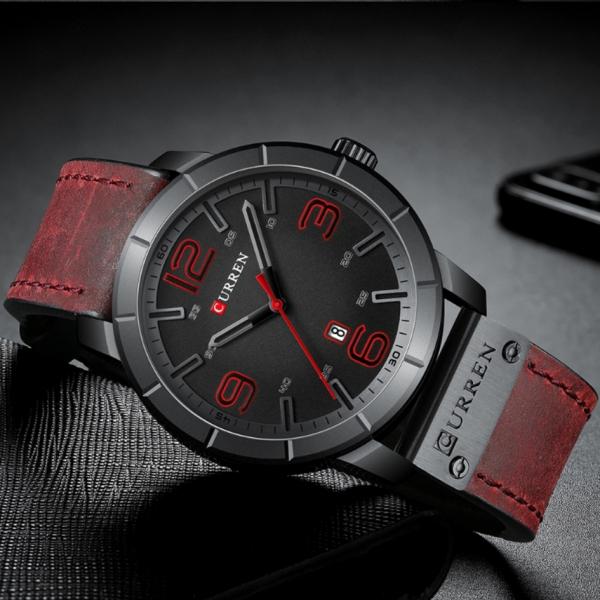 Fashion Ceas barbatesc Curren Top Brand Luxury Piele Quartz Casual Sport 3