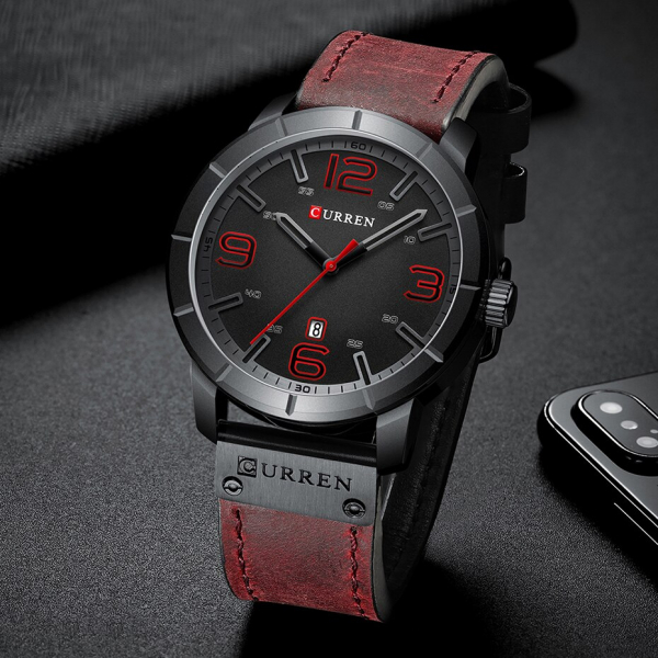Fashion Ceas barbatesc Curren Top Brand Luxury Piele Quartz Casual Sport 6