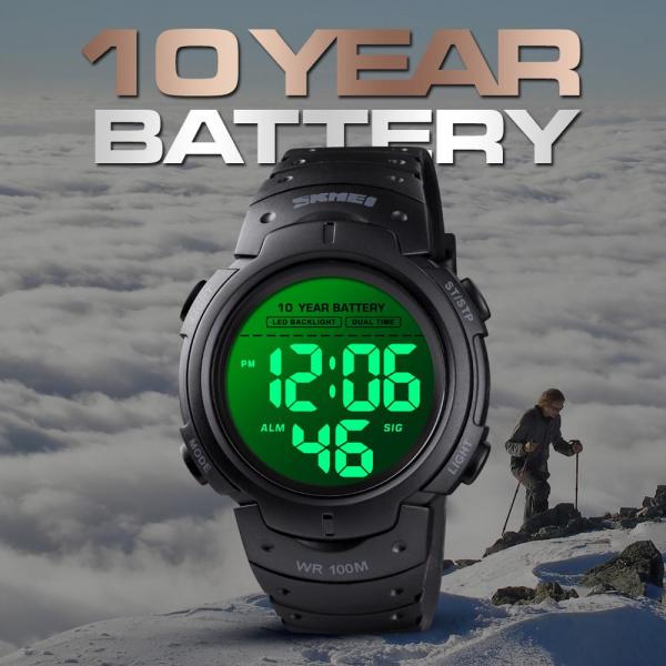 Skmei Ceas Barbatesc Subacvativ 100M Digital Sport Autonomie baterie 10 ani 2