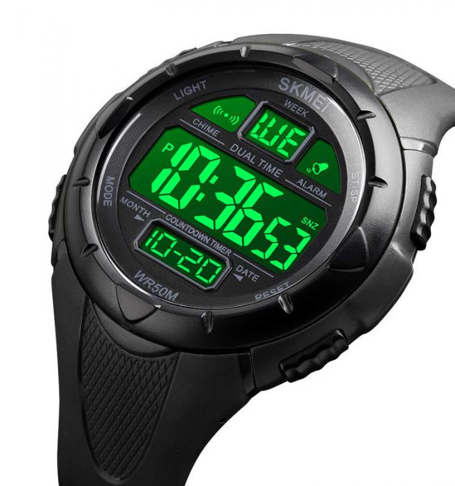 Skmei Ceas sport Dual Time Cronometru Alarma [2]