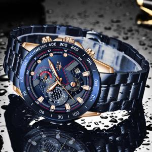 Ceas barbatesc Business Elegant Cronograf Elegant Otel Inoxidabil Quartz5