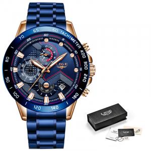 Ceas barbatesc Business Elegant Cronograf Elegant Otel Inoxidabil Quartz2