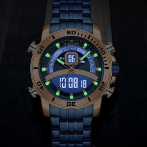 Ceas barbatesc Casual Dual Time Luxury Naviforce Cronograf Quartz Digital4